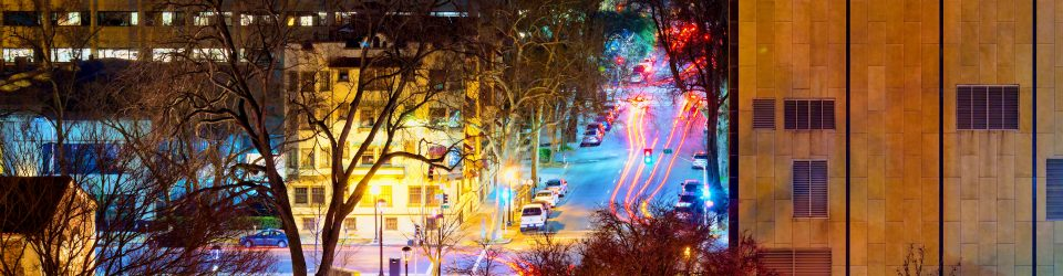 time lapse photography of cars on city