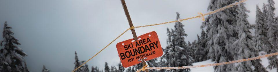 Ski Area Boundary sign