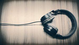 music, headphone, caption