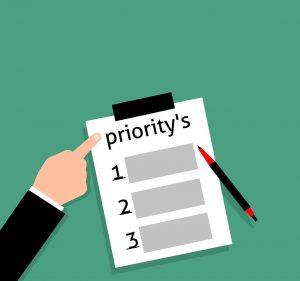 priority, goal, plan